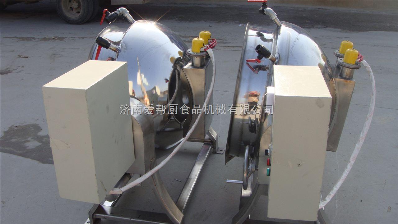 供应全不锈钢厨房设备大型可倾式燃气夹层锅