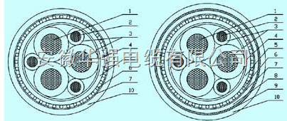 变频电缆BPYJVP-0.6/1KV 3*25+3*6