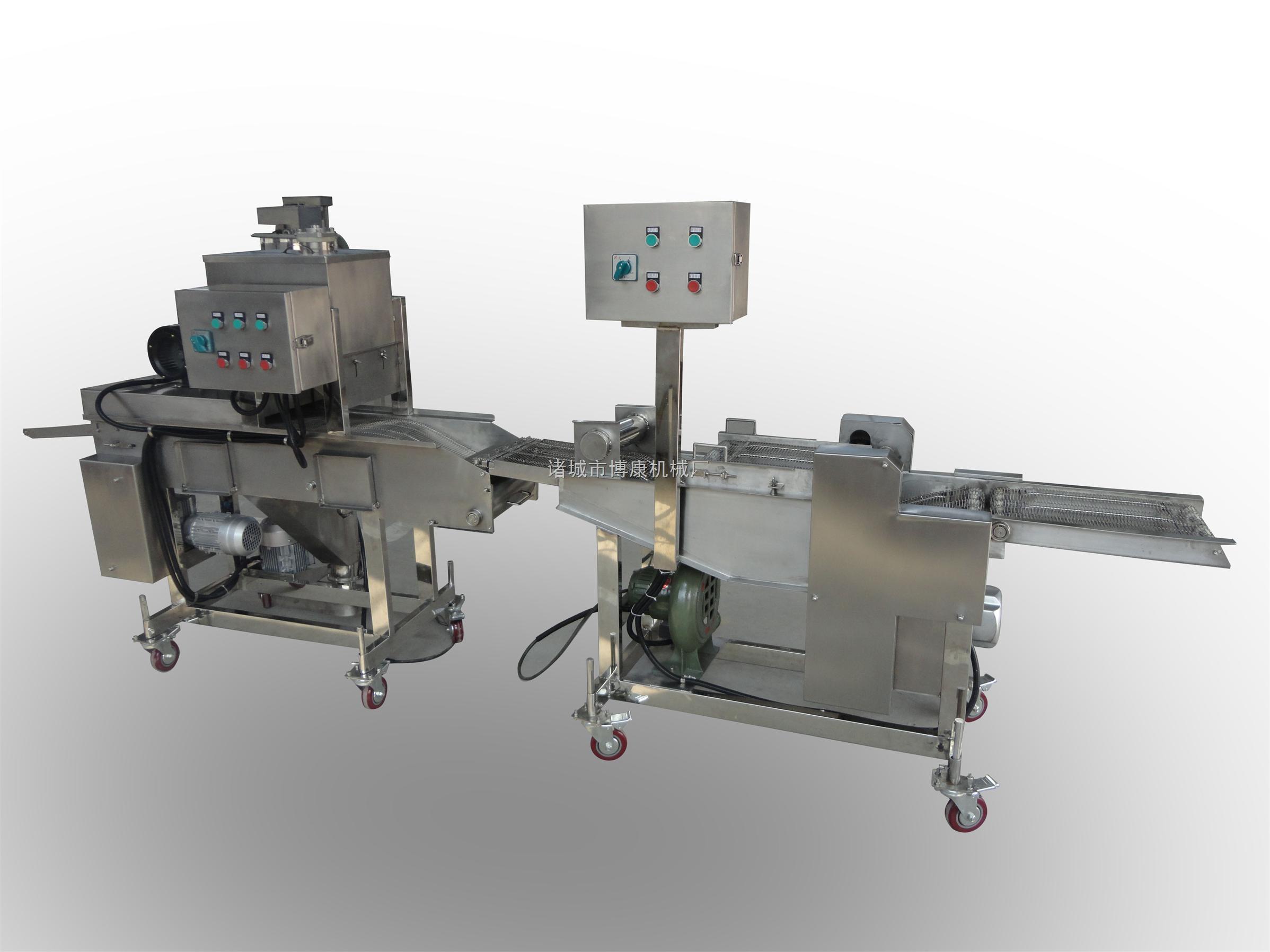 专业生产食品加工设备|花枝酥牌裹浆裹粉生产线