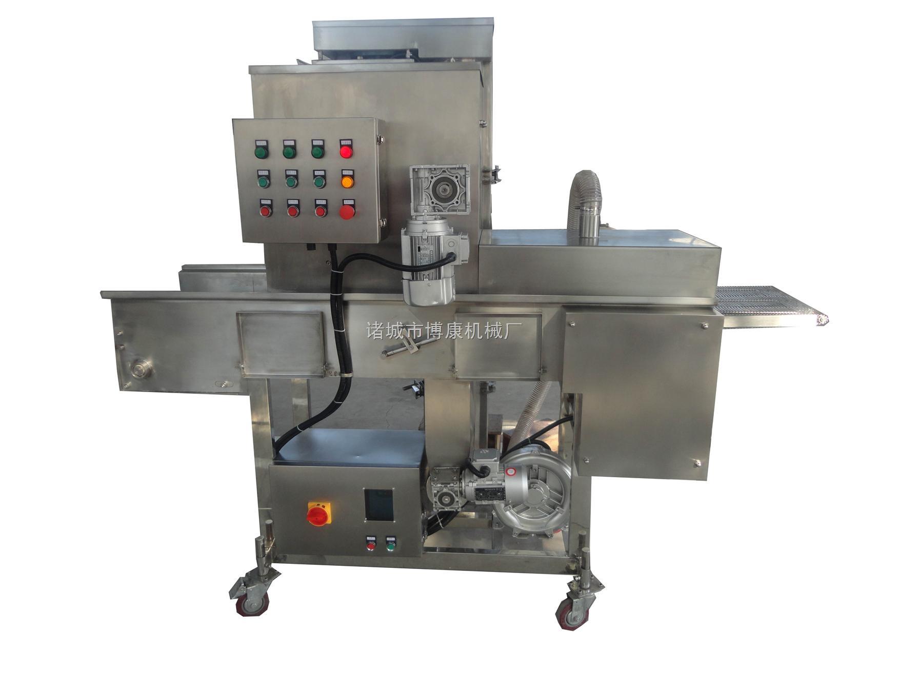 专业生产供应鱼棒、蟹味棒裹糠机