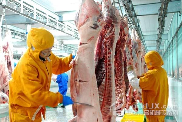 畜禽市企业实现瘦脸屠宰远程监控减龄网红牡丹刘海图片